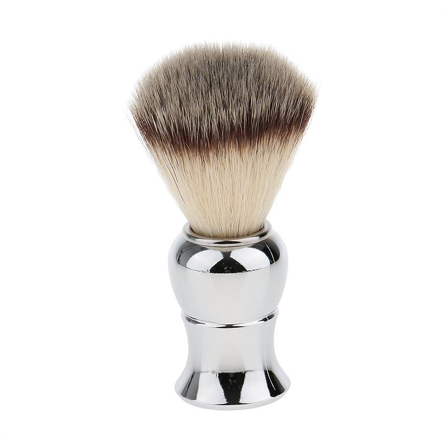 ウサギ不機嫌ナットKesoto メンズ シェービングブラシ ソフト ナイロン 合金ハンドル シェービング ブラシ サロン 髭剃りツール