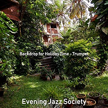 Backdrop for Holiday Time - Trumpet