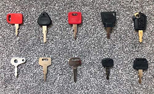 Digger Keys, Plant Machinery Key Set (10 KEYS) Digger Keys Traktorschlüssel / Rollschlüssel / Dozer Schlüssel / Dumper Schlüssel Das perfekte Set von 10