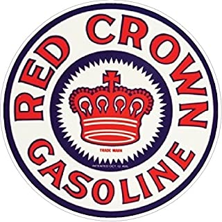 Red Crown Gasoline Vintage Window decal sticker NHRA Rat Rod Street Rod Hot Rod