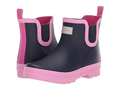 Hatley Kids Ankle Rain Bootie (Toddler/Little Kid) (Navy) Girl