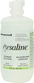 Honeywell Emergency Eyewash 32-000454-0000 Eyesaline Wall Station Refill Bottles, 16 oz. (Pack of 12)