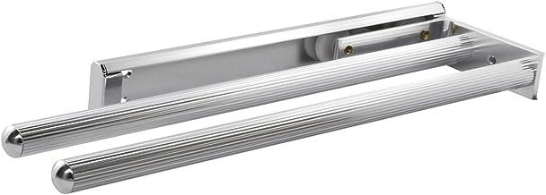 Gedotec Handdoekhouder uittrekbaar theedoekenrek van aluminium | gepolijst chroom | handdoekstang 2-armig | inbouwlengte 4...
