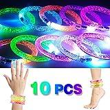 2win2buy 10 x LED Armband, Leuchtender Armschmuck Leuchtarmband Blinkend Glänzend für Party...