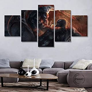 LIVELJ Puzzle gift Venoms Riot Modular Prints Pictures Home Decor 5 Pieces Painting Office Canvas Poster Modern Movie Wall...