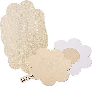 60 Piezas Cubre Pezones para Mujer, Nipple Cover Satén de Transpirables y Cómodos, Pezoneras Cubierta Desechable Nippies I...