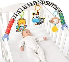 HEITIGN Arco de Actividad con Juguetes de Sonajero, Clip Multifuncional para Carro de Bebé, Viaje de Bebé Arco Cochecito de Tela Barra de Actividad para Cochecito con Accesorio de Cuna de Sonajero