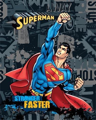 Anti-Pill Superman Stronger Faster Fleece Panel...