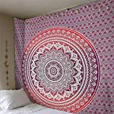 N / A Indian Mandala Tapestry Wall Hanging Beach Throw Rug Blanket Bohemian Sleeping Mat Tapestry Home Decoration A9 200x150cm