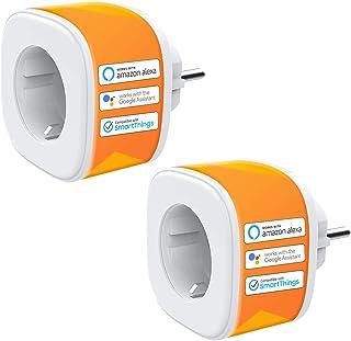 Presa WiFi Intelligente Smart Plug 16A Funzione Timer Compatibile con Alexa Echo, Google Home, Controllo Remoto App iOS An...