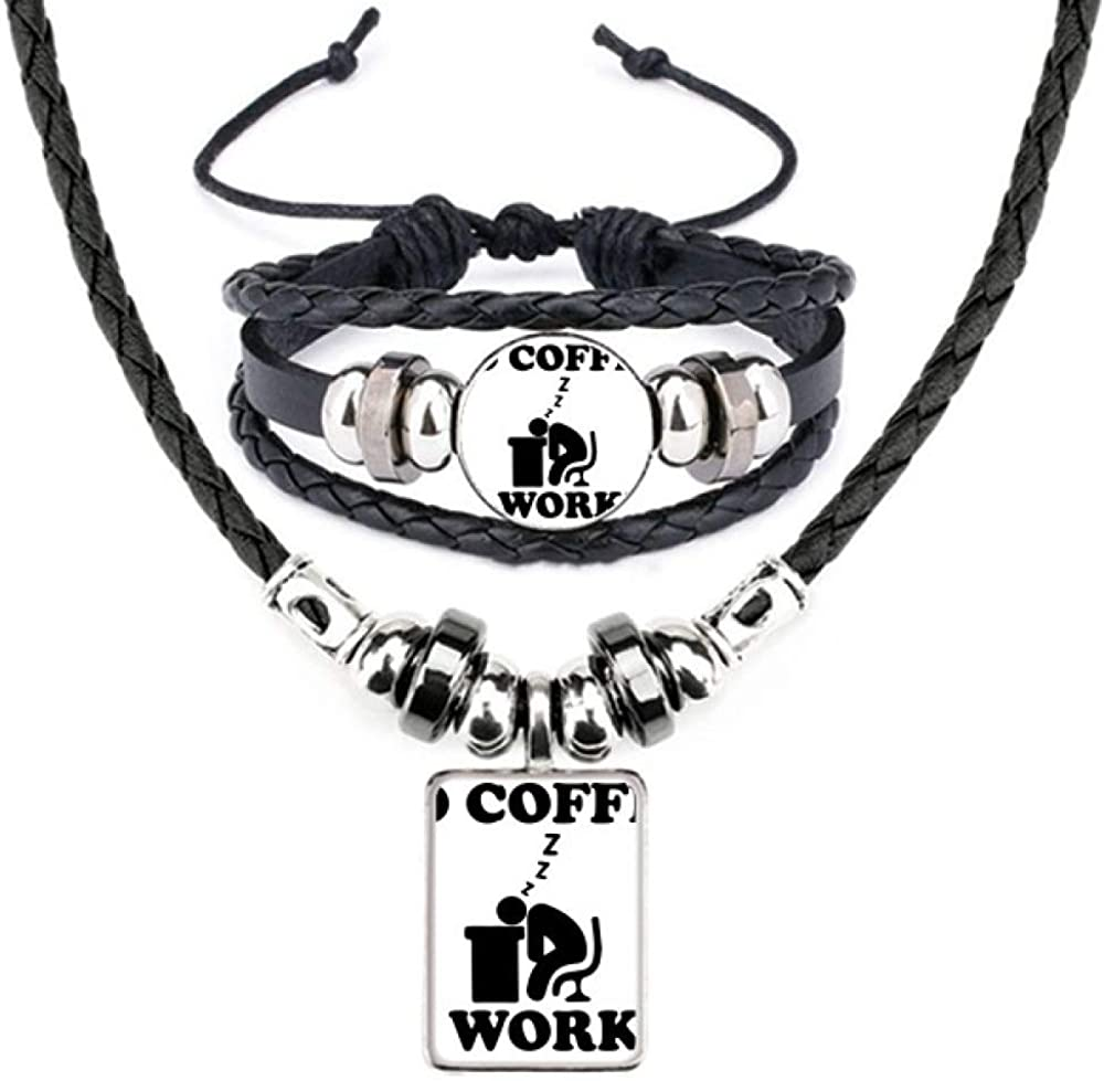 No Japan Maker New Coffee Sale price Workee Office Design Necklace Bracelet Leather Jewe
