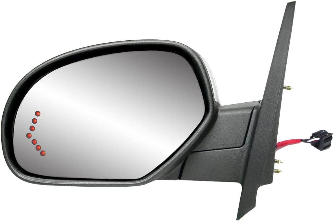 Towing Mirror Glass Power Heated Signal Upper Driver Side Left LH for GM Pickup