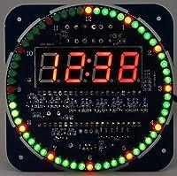 回転LEDデジタル時計電子基板キット(緑基板Ver)