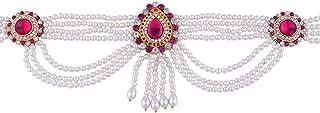 Anuradha Art Golden Finish Studded with Pink Colour Sparkling Stone Perfect Maharashtrian Look Kamarpatta Waist Chain/Bell...