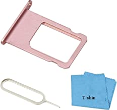 SIM Card Tray Cover Card Slots Holder Replacement Part for iPhone 6S PLUS (5.5Inch) with Sim Card Remover Eject Pin Key Tool and Cloth (Rose Gold)