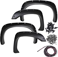 Fender Flares for 09-15 Ford 150 (Pack of 4) Bolt On Pocket Style Wheel Fenders Flare - Truck Accessories Best for Pick-up Trucks Trim Guards - Black Re-Paintable Parts with Hardware Kit