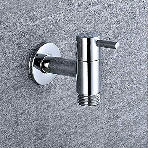 Yaoqingf Wasserhahn Hochwertiger, Extra Langer Wasserhahn Aus Massivem Messing Für Den Außenbereich Mit Verchromtem Standard-G1 / 2-Gewinde