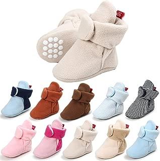Jonbaem Infant Baby Girls Boys Winter Snow Boots Soft Sole Fleece Newborn Infant Toddler Winter Boots Shoes