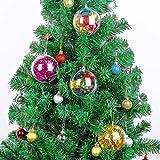 LIOOBO Palline Trasparenti plastica Natale 4cm Sfere apribili Decorazioni addobbi Albero d...