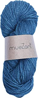 Muezart 100% Natural Eri Silk Yarn for Crochet and Knitting | 3.53oz Skein 98 Yards (Approx) | Natural Dyed Indigo Blue 3 ...