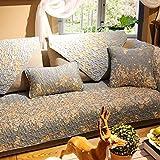 Funda de cojín de algodón acolchado grueso para sofá de exterior, antideslizante, funda de protección para sofá, muebles, funda de sofá de 110 x 210 cm