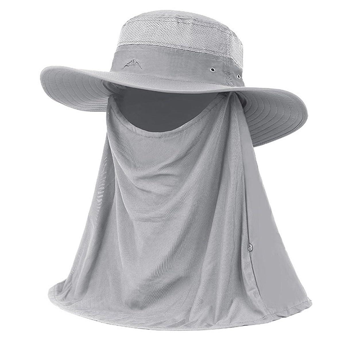 語値する照らす夏メンズ日曜日の帽子の屋外の釣り帽子は折り返しの首カバーが付いている表面紫外線保護帽子を隠します