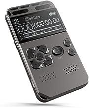 ZJH Grabador, Profesional Digital de Alta definición grabadora de grabación de un Toque de reducción de Ruido para grabación telefónica Recargable USB 8G Gran Capacidad Grabador