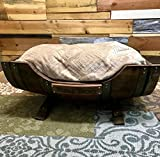 Wine Barrel Dog Bed, Personalized Pet Bed with Toy Storage