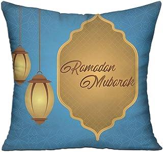 Cushion Cover Pillow Cover Ramadan Mubarak Decorative Pillow Case Sofa Seat Car Pillowcase Soft 18x18 Inch