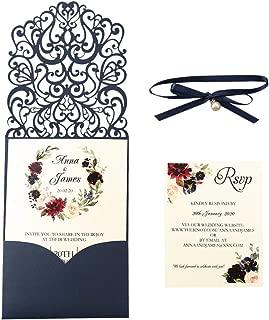 lavender laser cut wedding invitations