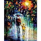 Pintura pareja abstracta sobre lienzo pintura acrílica para adultos arte de la pared imagen al óleo dibujo para colorear por número decoración del hogar W10 60x75cm