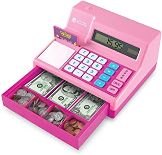 Learning Resources Pretend & Play Calculator Cash Register, Classic Counting Toy, 73..