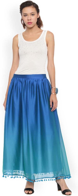 Indian Handicrfats Export De Moza bluee Maxi Skirt
