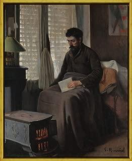 Berkin Arts Framed Santiago Rusinol Giclee Canvas Print Paintings Poster Reproduction(Ramon Canudas Sick Convalescent) #XLK