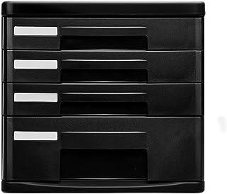 Armoires Classeur à Quatre Couches de données de Stockage Bureau Petit Cabinet de Finition Cabinet de tiroir en Plastique ...