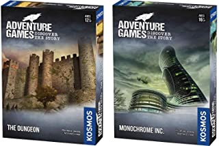 Thames & Kosmos Adventure Games 2 Game Bundle: The Dungeon and Monochrome, Inc.