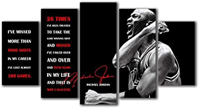 Home Decor Modular Poster Pictures Wall Artwork 5 Peiec Michael Quotes Jordan Canvas Paintings Printed for Living Room Framework