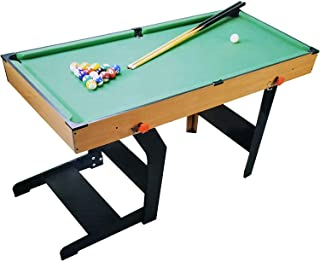 Foot Folding Pool Table Billiard Table with Pool Balls 2 Cues Sports Game Table