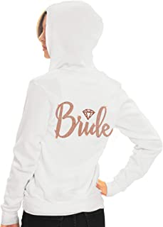 Bride, Bridal Party Zip Hoodie - Bride, Bridesmaid, Maid of Honor, Bride Squad - Bachelorette Party Hoodie