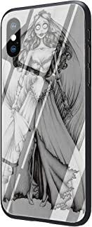 Corpse Tim Burton's Corpse Bride Tempered Glass Phone Case Cover for iPhone 11 Pro Max Xs XR X 8 7 6 6S Plus (G2,for iPhone 11 Pro Max)