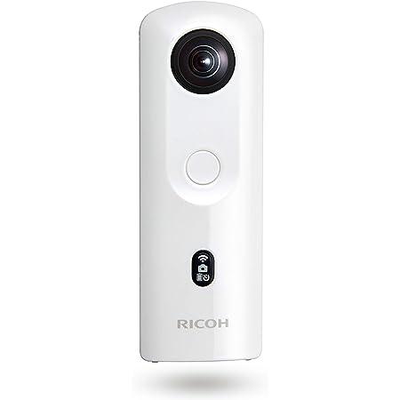 RICOH THETA SC2 WHITE ホワイト 360度全天球カメラ 360°手振れ補正機能搭載 4K動画 進化したHDR合成機能 (THETA SC比 2.4倍の処理速度アップ、最新のアルゴリズムにより室内の撮影でよりナチュラルな絵作り) 高速WiFi転送 精度の高い自然なスティッチング 910800