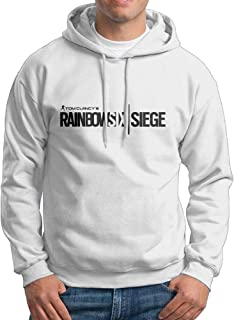 Men's Hoodies Rainbow Six Siege Logo Casual Hooded Drawstring Sweatshirts