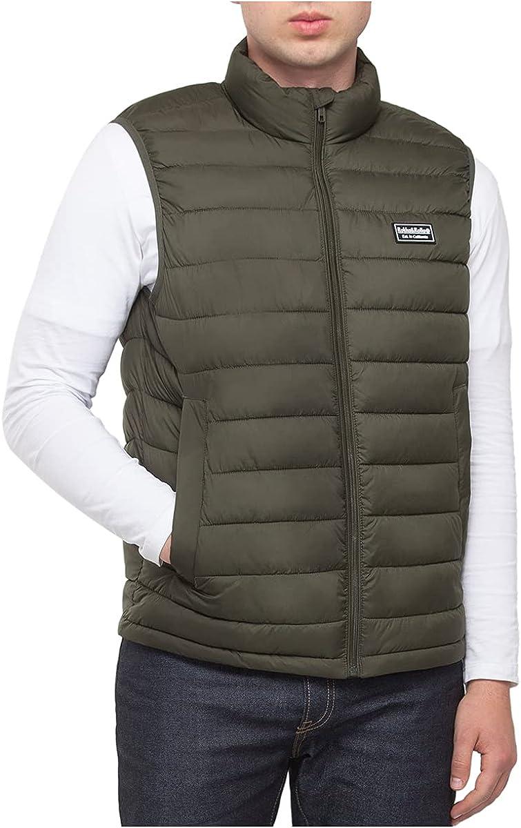 Rokka&Rolla Men's Lightweight Water-Resistant Packable Puffer Vest