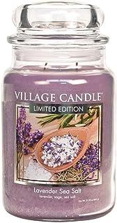 Village Candle Lavender Sea Salt 26 oz Glass Jar Scented Candle, Large