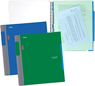 """Five Star Advance Spiral Notebooks, 1 Subject, College Ruled Paper, 100 Sheets, 11"""" x 8-1/2"""", Blue, Green, 2 Pack (73170)"""