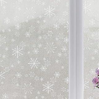 Pumpumly Pegatina autoadhesiva para ventana de cristal con diseño de flores, 60 x 200 cm