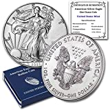 Purity: .999 Fine Silver Metal Content: 1 Troy Ounce You will receive one coin per purchase Diameter: 40.6 mm; Thickness: 3.2 mm Stock Photo; Image is indicative of quality; Coin will come with a certificate of authenticity and a US Mint Box