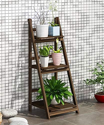 YDS SHOP Slaapkamermeubel van massief hout met meerdere niveaus voor bloemenvaas, bloemenemmer, balkon, woonkamer, hoek, binnen, Super Selvaggio