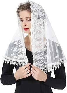 BEAUTELICATE Spitzen Mantilla/Schal Schleier T/üll Stola Schwarz Wei/ß F/ür Damen Kirche Messe Latein Kapelle Katholisch Braut Brautjungfer V110