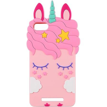Mulafnxal Pink Unicorn Licorne Coque pour Wiko Lenny 3/Jerry,Housses de téléphone,TPU Silicone Etui,Mignon 3D Cartoon Dessin Animé Animaux Licorne ...